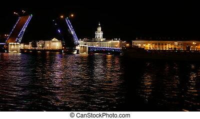 Bridge night city ship