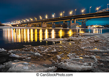 Night scene in Russia, Ufa