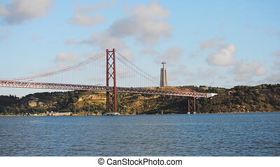 Bridge of 25th april in Lisbon.