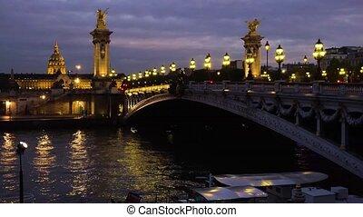 Bridge of Alexandre III, Paris, France - PARIS, FRANCE -...