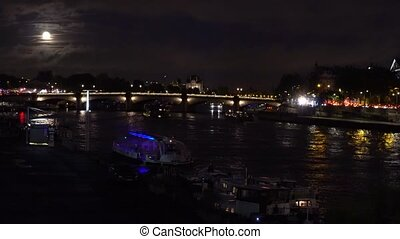 Bridge of Alexandre III, Paris, France - Ship and boats...