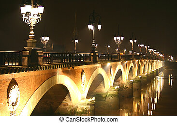 """bridge of Bordeaux \\\""""le pont de pierre\\\"""""""