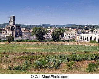 Pont Saint Esprit, Gard, France - Bridge of Pont Saint...