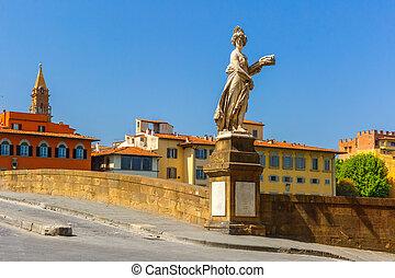 Bridge of Santa Trinita in Florence, Italy