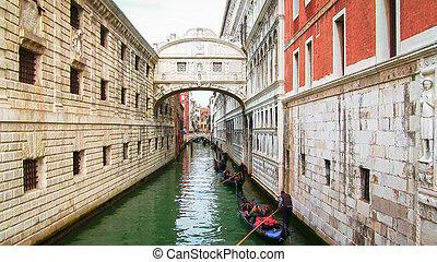 Bridge of Sighs Venice Italy.