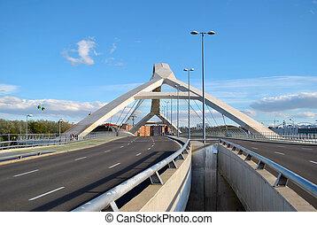 Bridge of the Tercer Milenio in Zaragoza