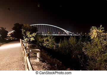Bridge of the Third millennium in Zaragoza