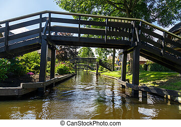 Bridge on Giethoorn Canals