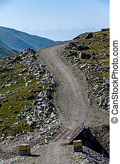 Bridge on mountain road. Kyrgyzstan