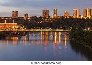 Bridge on North Saskatchewan River in Edmonton