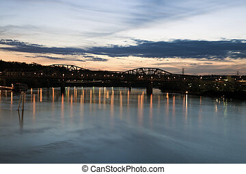 Bridge on Ohio River in Cincinnati