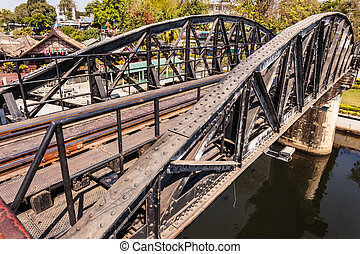 Bridge on river Kway - The famous Bridge on the river kwai,...