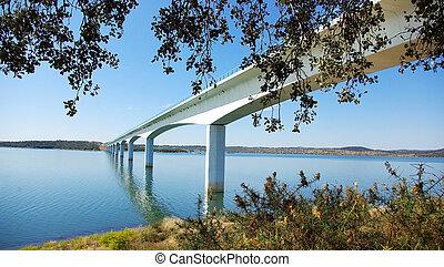 Bridge on the Alqueva lake.