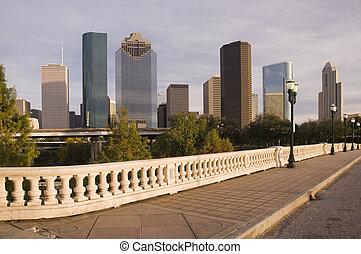 Bridge on the Bayou - Bridge vantage point view of downtown...
