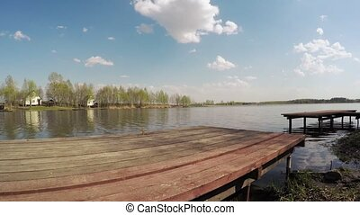 Bridge on the lake for fishing