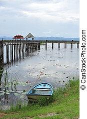 Bridge on the lake in national park (Ramsar Site), Sam Roi Yod National Park, Prachuap Khiri Khan, Thailand