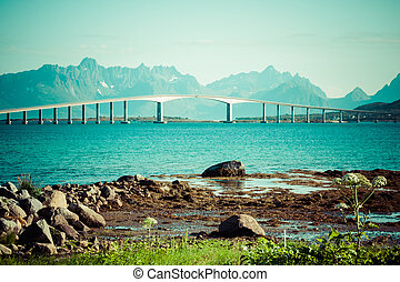 bridge on the river in Norway
