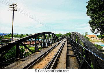 Bridge on the river kwai, Kanchanaburi province, Thailand