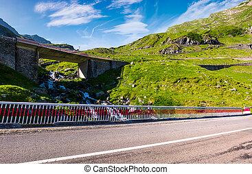 bridge on transfagarasan route of Romania. beautiful summer...