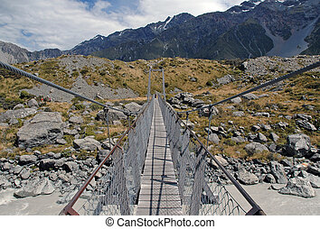 Bridge on walking track New Zealand
