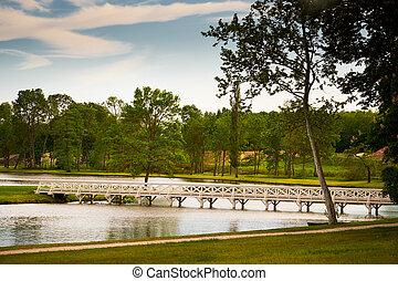 Bridge ove the pond