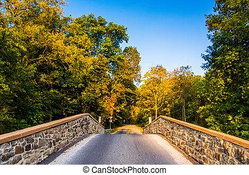 Bridge over a creek in Adams County, Pennsylvania.
