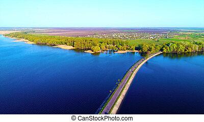 Bridge over a wide river