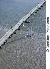 Bridge over bay.