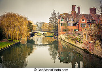 Cam river, Cambridge - Bridge over Cam river, Cambridge...