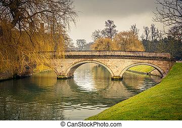 Cam river, Cambridge - Bridge over Cam river, Cambridge ...