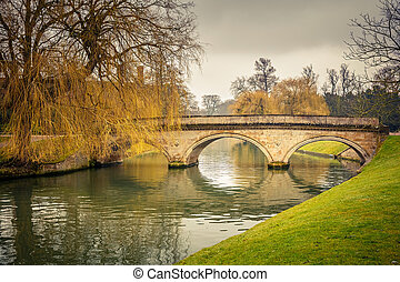 Bridge over Cam river, Cambridge University