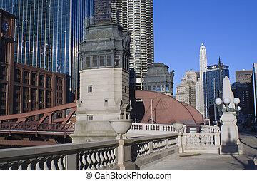Bridge over Chicago River - Chicago, Il.
