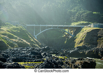 Bridge Over Cooks Chasm Along Pacific Coast