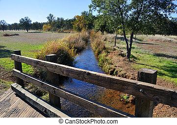 Bridge over Creek in California Wildlife Refuge