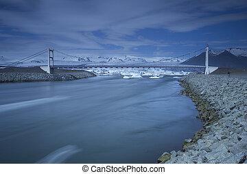 Bridge over Jokulsarlon Lagoon