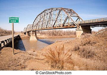 Bridge over Missouri River Montana Northern United States