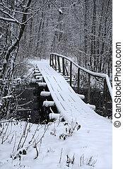Bridge Over River in the Winter