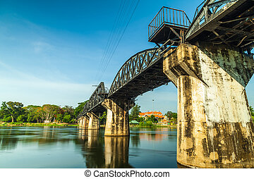Bridge over River Kwai. - Bridge over River Kwai in...