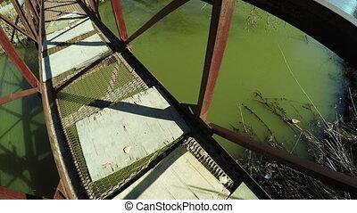 Bridge over river spring