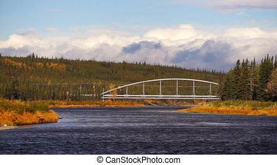 Bridge Over River Trans Alaska Pipeline Oil Transporatation...