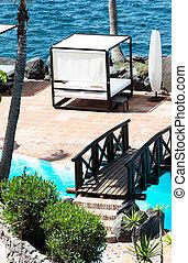 Bridge over swimming pool vertical