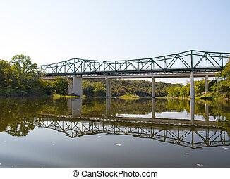 Bridge Over the Brazos River - Steel and concrete bridge ...