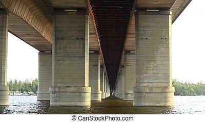 Bridge over the Dnieper River