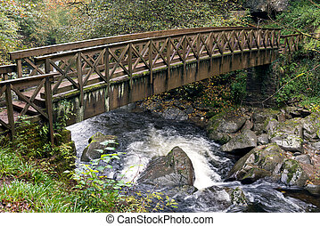 Bridge over the East Lyn River