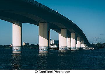 Bridge over the Halifax River in Daytona Beach, Florida.