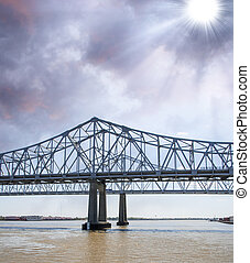 Bridge over the Muddy Mississippi River - New Orleans