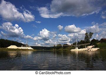 bridge over the river Chusovaya in the Perm region
