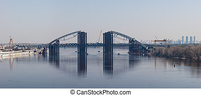 Bridge over the river Dnieper