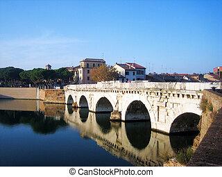 Bridge over the river in the Rimini