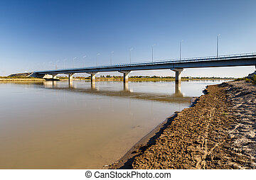 bridge over the Syr Darya river, Kazakhstan